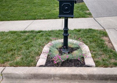 Mailbox Edging and Flower Bed _After