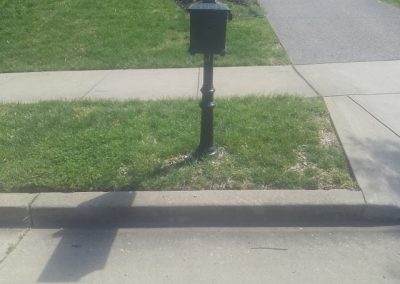 Mailbox Edging and Flower Bed _Before